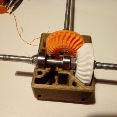 1f7767c91b5300ed22acac131c8d408a_preview_featured.jpg Télécharger fichier STL gratuit Réducteur à angle droit Nema 17 avec engrenages coniques à denture hélicoïdale • Modèle pour imprimante 3D, dasaki