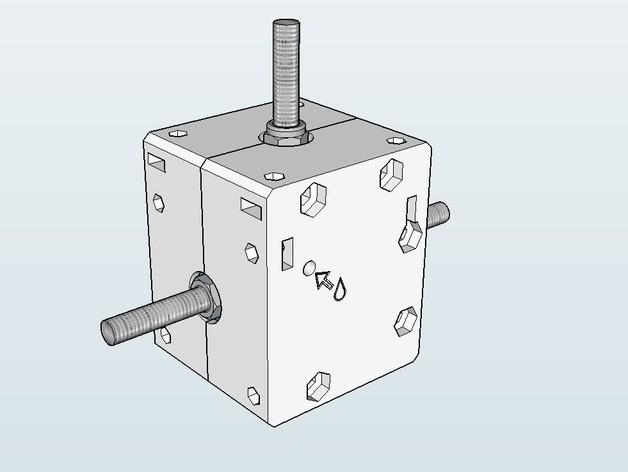 screenshot_01_preview_featured.jpg Télécharger fichier STL gratuit Réducteur à angle droit Nema 17 avec engrenages coniques à denture hélicoïdale • Modèle pour imprimante 3D, dasaki
