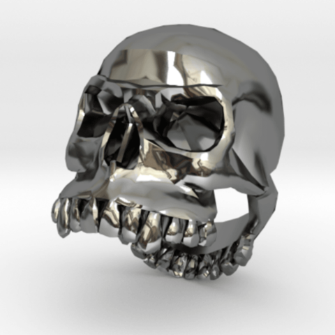 Free Dasaki skull ring 3D printer file, dasaki