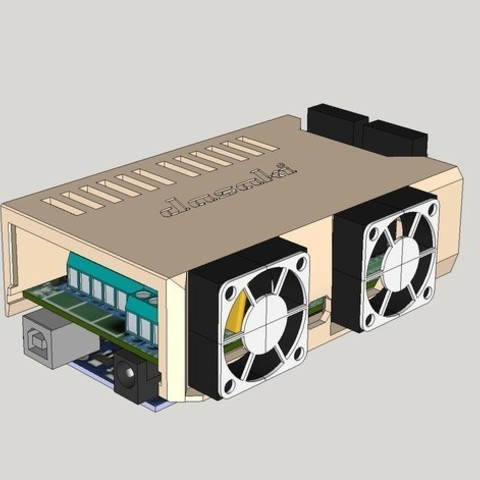7e56c05ae5947c1202b8de3bf1be85dc_preview_featured.jpg Download free STL file Ramps snap-in cover (2x30mm fans) • 3D printing template, dasaki