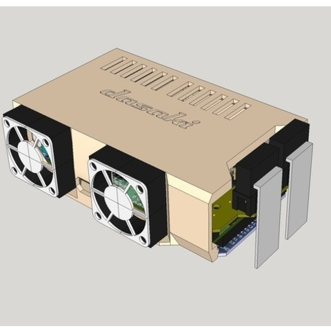 7c9845f707b94e0225a9c1552d319f16_preview_featured.jpg Download free STL file Ramps snap-in cover (2x30mm fans) • 3D printing template, dasaki