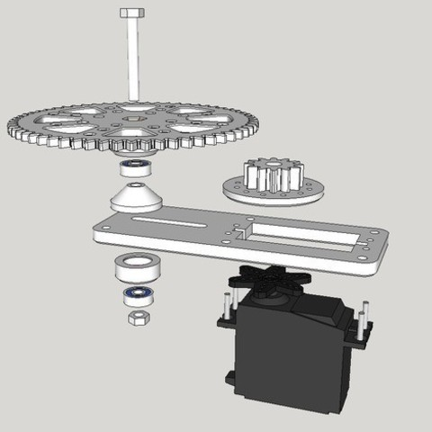 Download free 3D print files Servo pan reduction gear set, dasaki