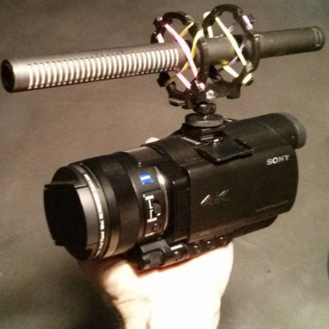 free microphone shockmount for camera shoe / tripod