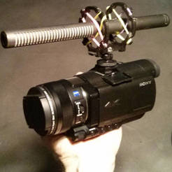 Free Microphone Shockmount for Camera Shoe / Tripod / Stand 3D printer file, dasaki