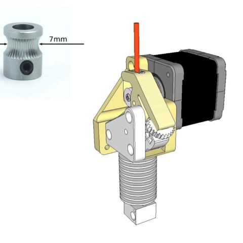Free 3d printer files Dasaki Compact Direct Drive Extruder for Prusa i3 (MK8 drive gear), dasaki