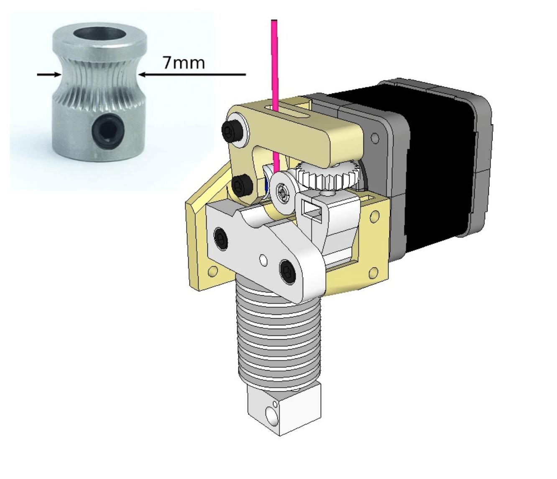 Capture d'écran 2018-04-05 à 16.30.31.png Télécharger fichier STL gratuit Dasaki MK8ish Extrudeuse à entraînement direct pour Prusa i3 (engrenage d'entraînement MK8) • Design imprimable en 3D, dasaki
