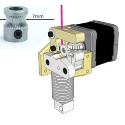 Capture d'écran 2018-04-05 à 16.30.31.png Download free STL file Dasaki MK8ish Direct Drive Extruder for Prusa i3 (MK8 drive gear) • Design to 3D print, dasaki
