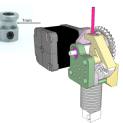 Capture d'écran 2018-04-05 à 16.33.29.png Download free STL file Dasaki Compact 1:3 Geared Extruder for Prusa i3 (MK8 drive gear) • 3D printer model, dasaki