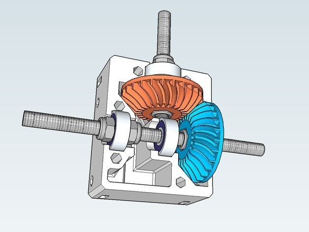 screenshot_02_preview_featured.jpg Download free STL file Nema 17 right angle gearbox with spiral bevel gears • 3D printer model, dasaki