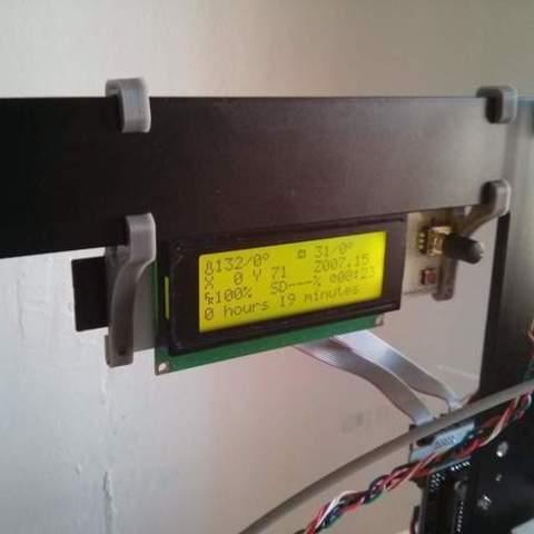 Free 3D printer model Smart LCD holder for Prusa i3 6mm aluminium frame, dasaki