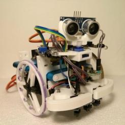 Free 3d print files Dasaki 2WD robot chassis, dasaki