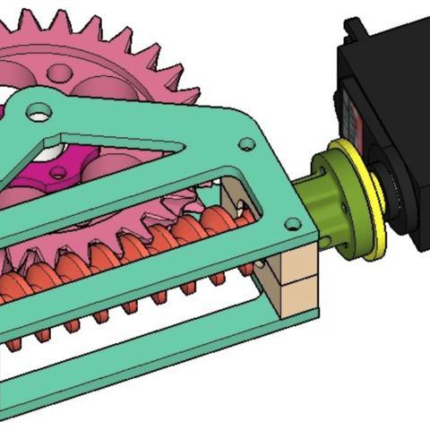Capture d'écran 2018-04-05 à 14.54.39.png Download free STL file Worm gear reducer 30:1 • Model to 3D print, dasaki