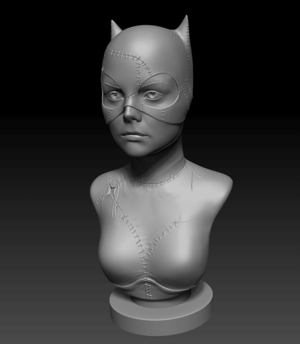 Capture d'écran 2018-04-05 à 11.48.37.png Download free OBJ file Catwoman • 3D printer design, Toshi_TNE