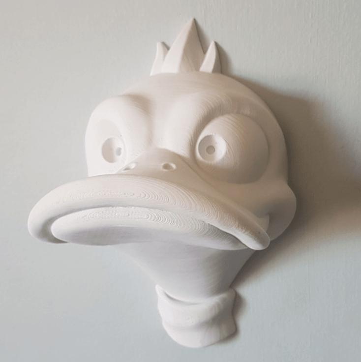 Capture d'écran 2018-04-05 à 11.49.33.png Download free OBJ file Duck Headphone Hanger • 3D print model, Toshi_TNE