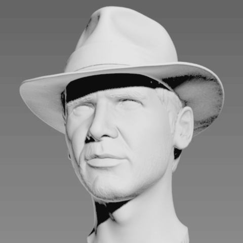 Descargar STL gratis Busto de Indiana Jones, Toshi_TNE