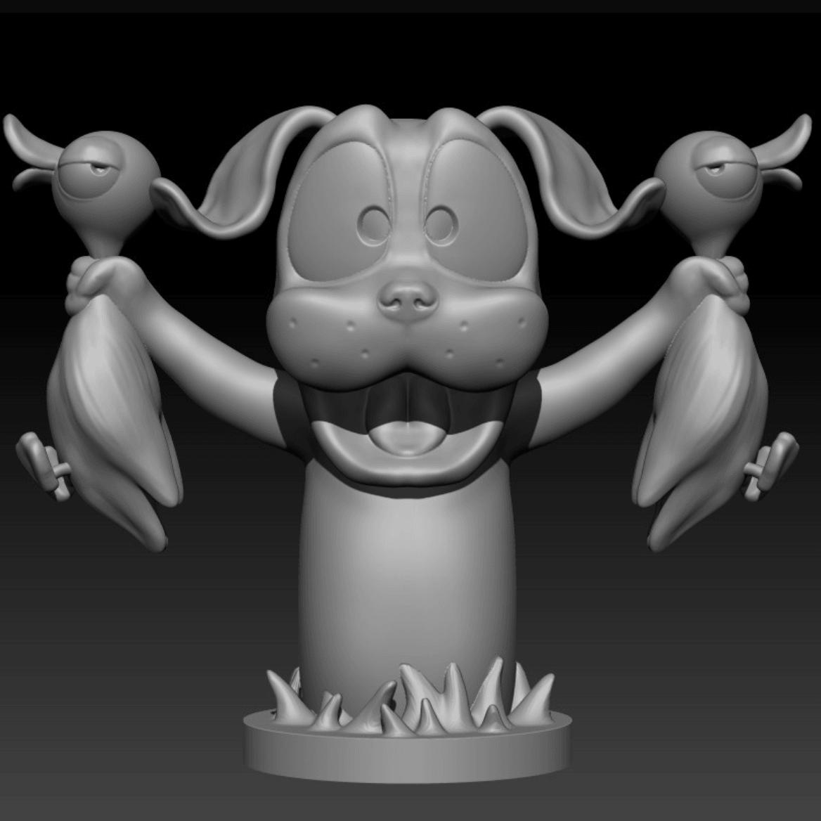 Capture d'écran 2018-04-05 à 11.19.42.png Download free OBJ file Duck Hunt dog • Model to 3D print, Toshi_TNE
