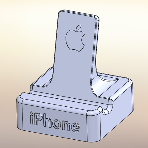 Download free 3D printer model iphone support, EasyRepRap