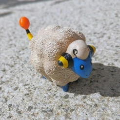 Free STL files Mareep Pokemon, 3dfux