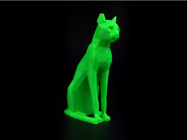 3dbc628b6584df66271dd9f9ca803f7c_preview_featured.jpg Download free STL file Low Poly Egyptian Cat Sculpture • Template to 3D print, 8ran