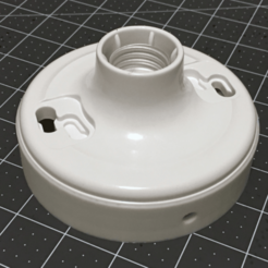 Capture d'écran 2018-04-16 à 16.08.39.png Download free STL file Shallow Leviton Light Fixture Base • 3D printer model, 8ran