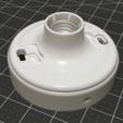 Capture d'écran 2018-04-16 à 16.08.39.png Download free STL file Shallow Leviton Light Fixture Base • 3D printer model, 8ran