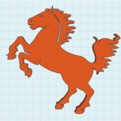 Free 3d printer designs Horse Silhouette, 8ran