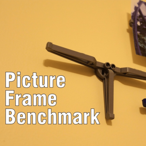 Download free 3D printing templates Picture Frame Benchmark, DragonflyFabrication