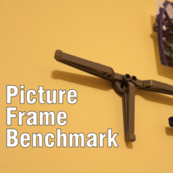 Free 3D printer model Picture Frame Benchmark, DragonflyFabrication