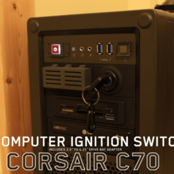Free 3d printer designs Corsair C70 Ignition Key, DragonflyFabrication