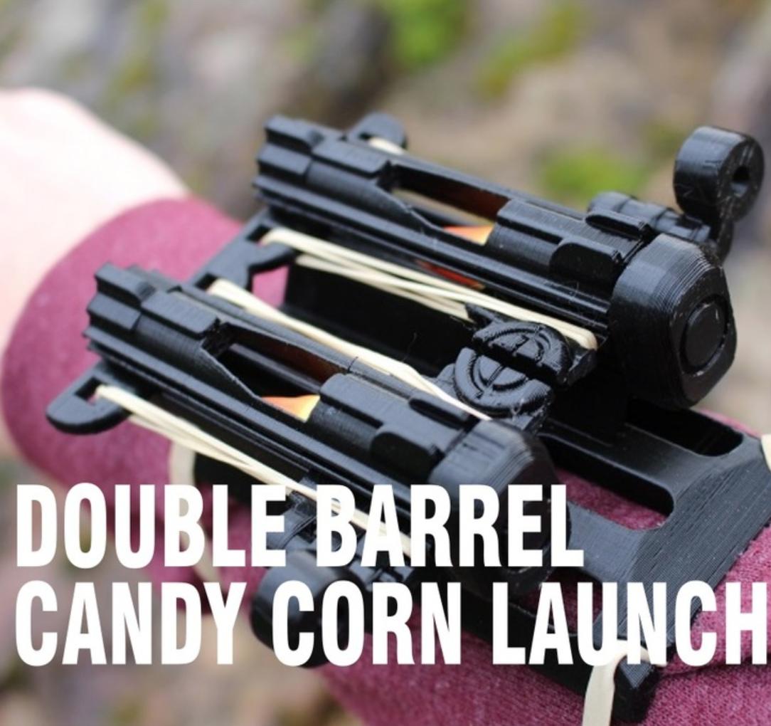 Capture d'écran 2018-04-09 à 14.03.24.png Download free STL file Double Barrel Candy Corn Launcher • 3D printer design, DragonflyFabrication