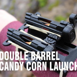 Download free STL file Double Barrel Candy Corn Launcher • 3D printer design, DragonflyFabrication