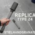 Free 3d print files Replica Stielhandgranate, DragonflyFabrication
