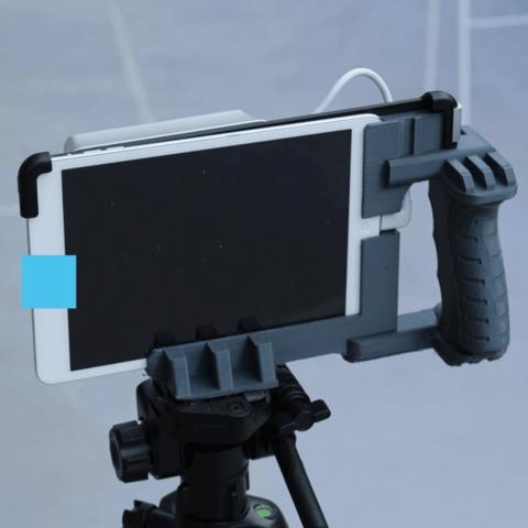 Capture d'écran 2018-04-09 à 15.02.38.png Download free STL file Structure Sensor Tripod/Handle Mount • Object to 3D print, DragonflyFabrication