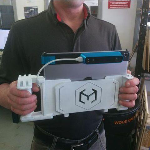 Download free 3D printer designs Structure Sensor Mount (12.9inch iPad), DragonflyFabrication