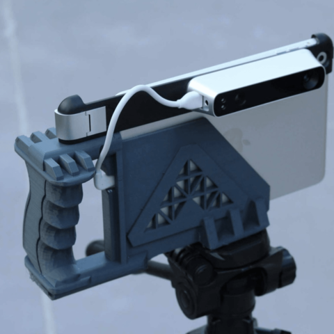 Download free 3D printing designs Structure Sensor Tripod/Handle Mount, DragonflyFabrication