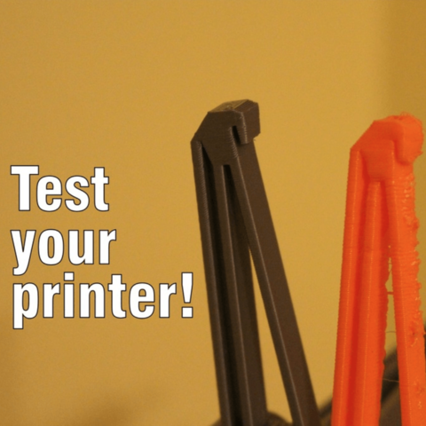Download free 3D printing templates Picture Frame Benchmark