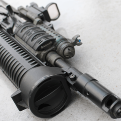 Imprimir en 3D gratis Airsoft Bizon Front End, DragonflyFabrication