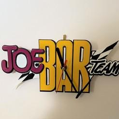 Joe bar team.jpg Download free STL file Joe Bar Team Clock • 3D printing model, jeremyp