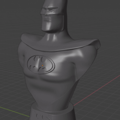 Batman Blender 1.png Download STL file Batman Bust The Animated Serie • 3D printable template, ZDRom