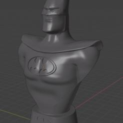 Batman Blender 1.png Télécharger fichier STL Buste Batman The Animated Serie • Modèle imprimable en 3D, ZDRom