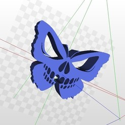Sin título.jpg Download free STL file Calabera Butterfly • 3D printing template, BolivarLinux3D