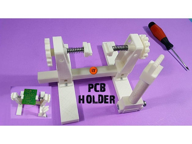 68f7debd2b61a3c21dc6b915c23a9e73_preview_featured.jpg Download free STL file PCB HOLDER Evo • 3D printer model, TheTNR
