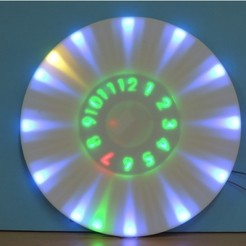 Download free 3D printing models ANIMATED RGB WALL CLOCK, TheTNR