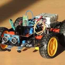 Free 3D printer model 4WD Smart Robot Car, TheTNR