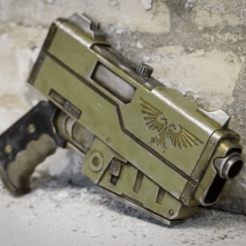 Capture d'écran 2018-04-10 à 17.04.19.png Download free STL file Warhammer 40K HANDGUN • 3D printable design, TheTNR