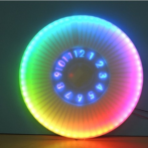4519f45ae9df37d87ad2db9c3c195a42_preview_featured.jpg Download free STL file ANIMATED RGB WALL CLOCK • 3D printing model, TheTNR