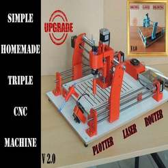 Download free 3D printing models TRIPLE CNC MACHINE - UPGRADE, TheTNR