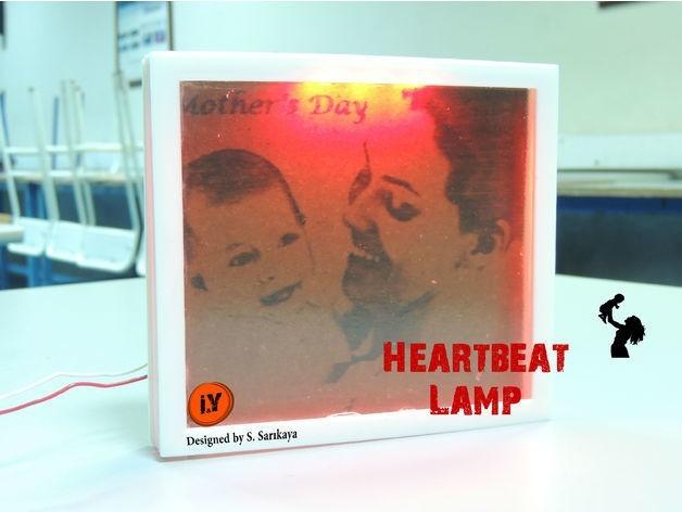 6e884396957e22019ea0da2e6430111c_preview_featured.jpg Download free STL file HEARTBEAT LAMP - MOTHER'S DAY GIFT • Model to 3D print, TheTNR