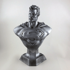 Free 3D printer files Superman - Hero Bust, TheTNR