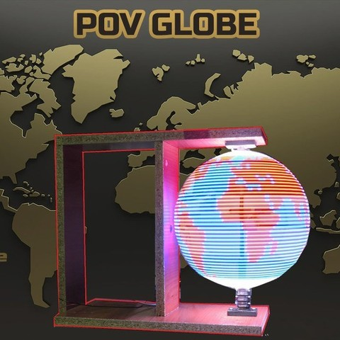 Descargar archivos STL gratis Persistencia de la visión - POV GLOBE, TheTNR